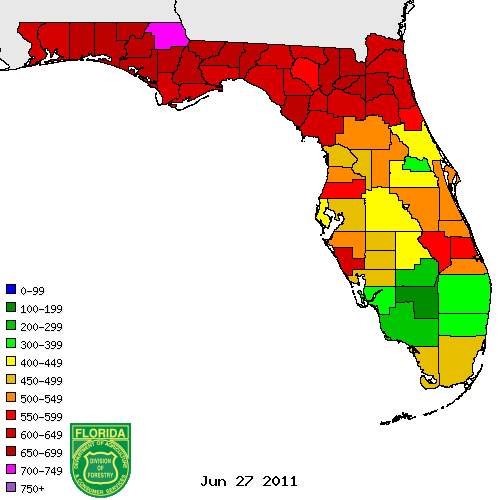 Drought index 2011 june